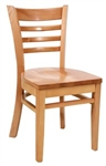 Royal Industries ROY-8001-N Ladder Back Wood Chair