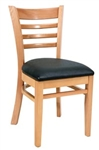 Royal Industries ROY-8001-N-BLK Ladder Back Wood Chair