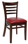 Royal Industries ROY-8001-W-CRM Ladder Back Wood Chair