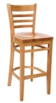 Royal Industries ROY-8002-N Wood Bar Stool - Natural Finish