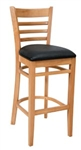 Royal Industries ROY-8002-N-BLK Wood Bar Stool