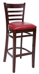 Royal Industries ROY-8002-W-CRM Wood Bar Stool with Upholstered Seat