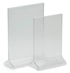 "Royal Industries Card Holder - Clear Acrylic - 4"" X 8"", (ROY ACH 48)"