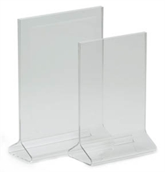 "Royal Industries Card Holder - Clear Acrylic - 5"" X 7"", (ROY ACH 57)"