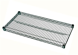 "24"" D x 72"" L Green Epoxy Coated Wire Shelf"