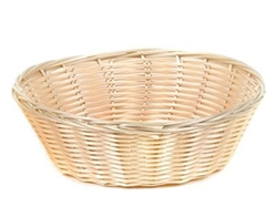 Royal Industries Plastic Rattan Round Basket, (ROY BP 1)