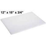 "Royal Industries Cutting Board (White) - 12"" x 18"""" x 3/4"", (ROY CB 121834)"