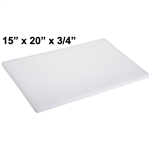 "Royal Industries Cutting Board (White) - 15"" x 20"" x 3/4"", (ROY CB 152034)"