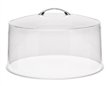 "Royal Industries Acrylic Round Cover with Top Handle for 12"" Cake Stand, (ROY CC 13)"