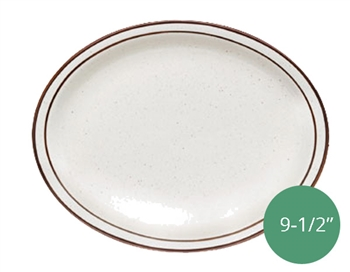 "Royal Industries Pueblo Dinnerware Collection China Platter - 9.5"" (ROY CH P 12)"
