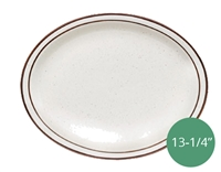 "Royal Industries Pueblo Dinnerware Collection China Platter - 13-1/4"" (ROY CH P 14)"