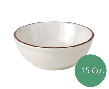 Royal Industries Pueblo Dinnerware Collection China Nappie Bowl - 15 Oz. (ROY CH P 18)