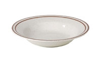 Royal Industries Pueblo Dinnerware Collection China Rimmed Soup Bowl - 9 Oz. (ROY CH P 3)