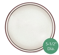 Royal Industries ROY-CH-P-5 Pueblo Collection 5-1/2 Inch diameter china plate.