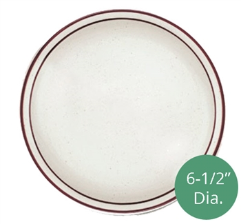 Royal Industries ROY-CH-P-6 Pueblo Collection 6-1/2 Inch diameter china plate.