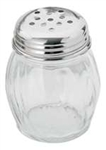 Royal Industries Glass Cheese Shaker with Perforated Top - 6 Oz., (ROY CS 6 P)