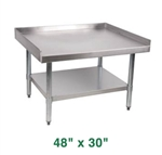 "Royal Stainless Steel Equipment Stand - 48"" X 30"""