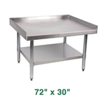 "Royal Stainless Steel Equipment Stand - 72"" X 30"""