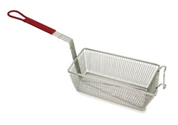 "Royal Industries Fryer Basket with Coated Handle - 12-1/2"", (ROY FB 1265 PH)"