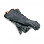 Royal Industries Heavy Duty Elbow Length Rubber Gloves, (ROY GLV BLK EL)