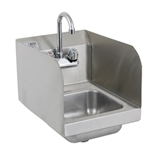 12-Inch Wide Hand Sink with Side Guard Splashes and Gooseneck Faucet (Royal Industries ROY HS 12 SP)