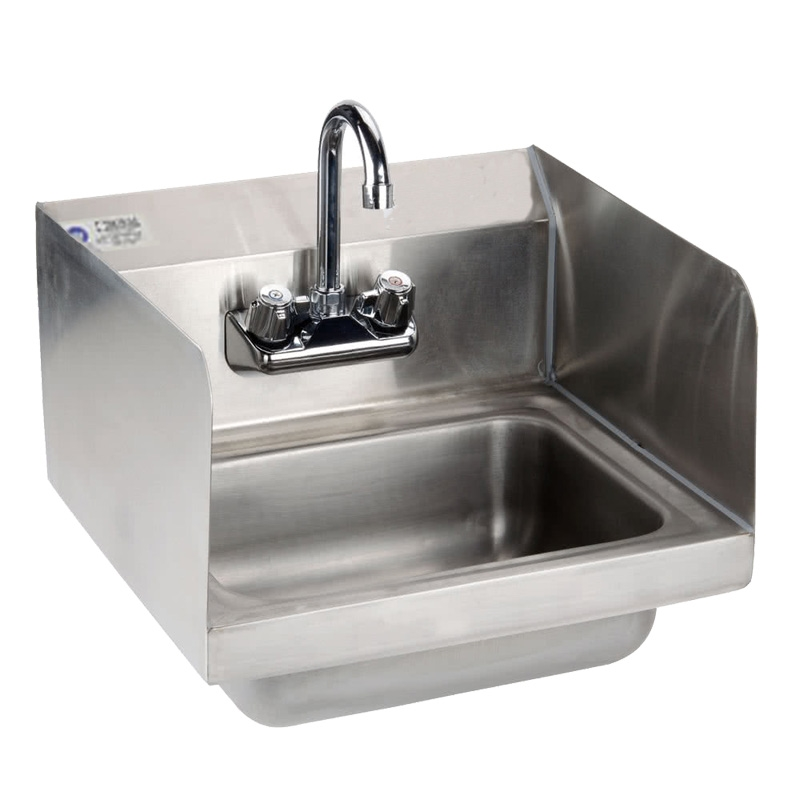 Exceptionnel Hand Sink With Side Guard Splashes And Gooseneck Faucet 15 Inch Wide (Royal  Industries ROY HS ...