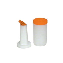 Royal Industries Plastic Pourer Bottles, Orange - 1 Qt., (ROY PB 1 ORG)