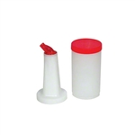 Royal Industries Plastic Pourer Bottles, Red - 1 Qt., (ROY PB 1 RED)