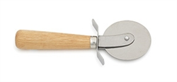 Royal Industries Pizza Cutter with Wood Handle - 2.5 Diam., (ROY PC 2 WD)