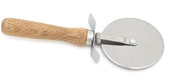 Royal Industries Pizza Cutter with Wood Handle - 4 Diam., (ROY PC 4 WD)