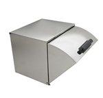 Steam Table Square-Back Stainless Steel Roll Top Cover - Full Size (ROY RRC)