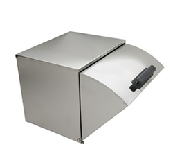 Royal Industries Steam Table Square-Back Stainless Steel Roll Top Cover - Full Size (ROY RRC)
