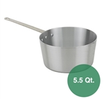Royal Industries Aluminum Sauce Pan - 5.5 Qt.