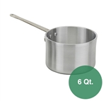 Royal Industries Heavy Duty Aluminum Sauce Pan - 6 Qt.