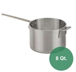 Royal Industries Heavy Duty Aluminum Sauce Pan - 8 Qt.