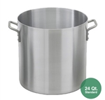 Royal ROY-RSPT-24-M Aluminum Stock Pot - 24 Qt.