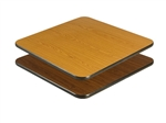 "Royal Industries Oak/Walnut Woodgrain Reversible Table Top - 24"" X 24"", (ROY RTT 2424 T)"