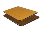 "Royal Industries Oak/Walnut Woodgrain Reversible Table Top - 24"" X 42"", (ROY RTT 2442 T)"
