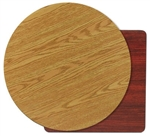 "Royal Industries Oak/Walnut Woodgrain Reversible Table Top - 36"" Diam., (ROY RTT 36 RT)"