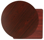 "Royal Industries Mahogany Woodgrain/Black Reversible Table Top - 30"" Diam., (ROY RTT BM 30 RT)"