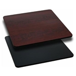"Royal Industries Mahogany Woodgrain/Black Reversible Table Top - 30"" X 42"", (ROY RTT BM 3042T)"