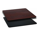 "Royal Industries Mahogany Woodgrain/Black Reversible Table Top - 30"" X 48"", (ROY RTT BM 3048T)"