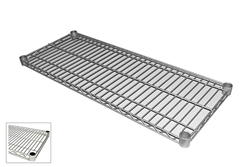 "Royal Industries Poly Coated Zinc Wire Shelf - 24"" Deep x 48"" Long, (ROY S 2448 Z)"