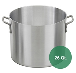 26 Qt. Commercial Aluminum Sauce Pot (Royal Industries ROY SAPT 26 H)