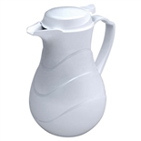 Insulated Coffee Sever White Molded Plastic 42 Ounce (ROY-SC-42-WH)