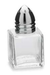 Royal Mini-Cubed Glass Salt & Pepper Shaker - 0.5 Oz.