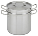 Royal Industries Double Boiler with Lid - Stainless Steel - 16 Qt., (ROY SS DB 16)