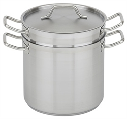 Royal Industries Double Boiler with Lid - Stainless Steel - 20 Qt., (ROY SS DB 20)