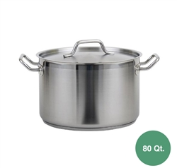 Royal Stainless Steel Induction Stock Pot - 80 Qt.