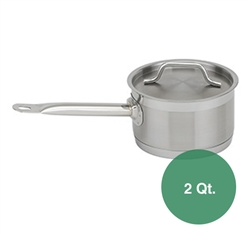 Royal Stainless Steel Sauce Pan with Lid - 2 Qt.